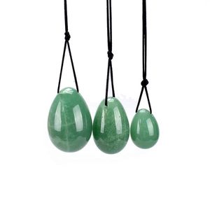 Green Aventurine Yoni Egg Set, 3 Pieces