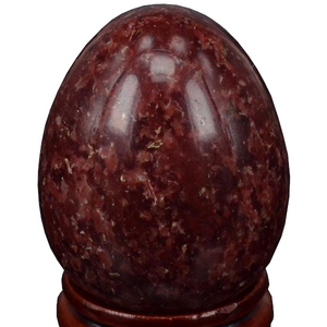 Medium Undrilled Dark Red Spot Jasper Yoni Egg