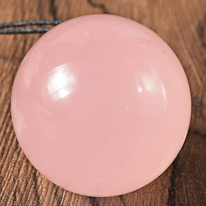 Drilled Natural Pink Rose Quartz Yoni Egg, 3 Sizes available