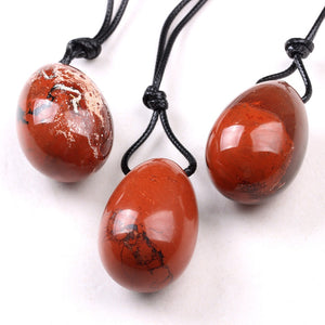 Medium Drilled Red Jasper Yoni Egg, 1 pc