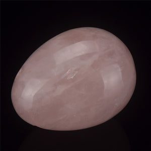 Large Pink Crystal Quartz Yoni Egg