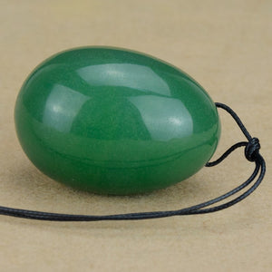 Large Elegant Green Aventurine Yoni Egg with String