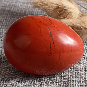 Medium Natural Red Jasper Yoni Egg
