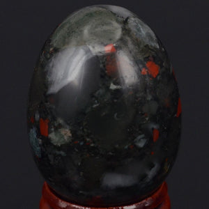 Shiny Spherical Bloodstone Yoni Egg