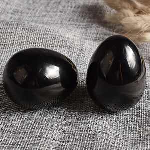 Undrilled Black Obsidian Yoni Egg