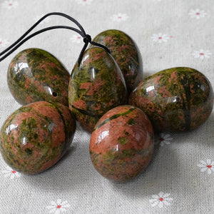 Large Unakite Yoni Egg