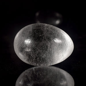 Transparent Crystal Quartz Yoni Egg