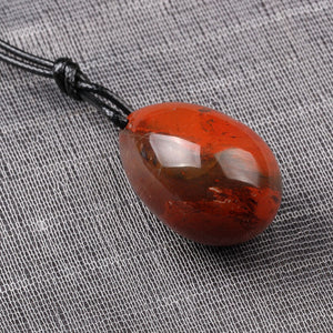 Small Drilled Natural Red Jasper Yoni Egg, 1 pc