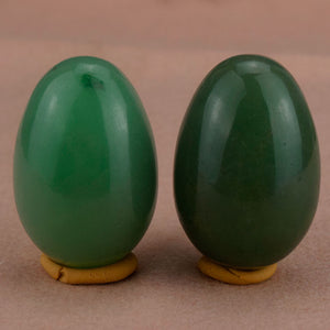Classic Green Aventurine Yoni Egg Set, 2 Pieces