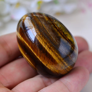 Spherical Tiger's Eye Yoni Egg