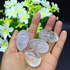 Crystal Clear Natural Quartz Yoni Egg, 1 Piece