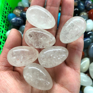 Undrilled Clear Quartz Yoni Set, 6 Pieces