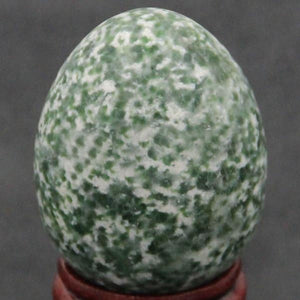 Large Undrilled Green Jasper Yoni Egg