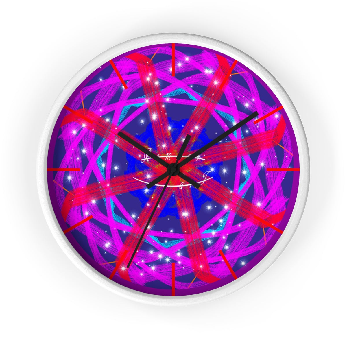 Wall clock - Cluster Gaggle | A Pattern Designed by @remlor - Remlor Art