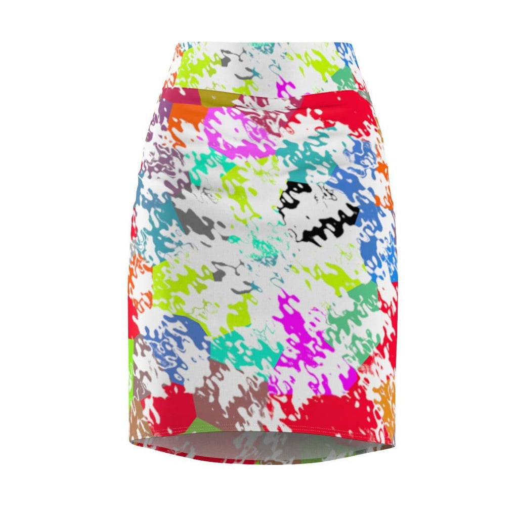 abstract womens mini skirt texture design psychedelic