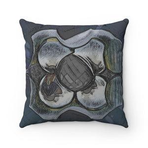 Spun Polyester Square Pillow - Estimation Confirmed | Designed by @remlor - Remlor Art