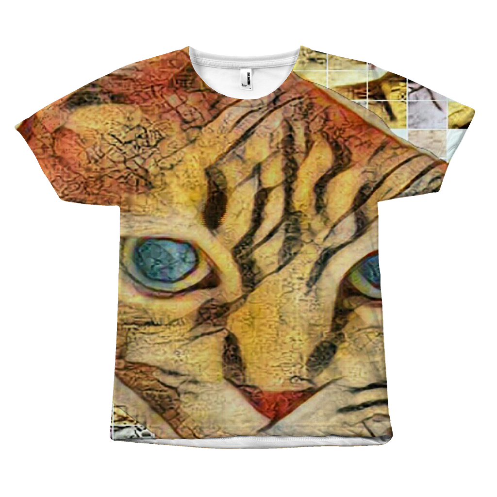 Abstract-Arphaxad The Cat - All Over Printed T-Shirt - Remlor Art