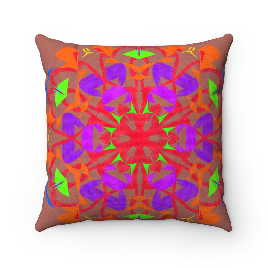 Spun Polyester Square Pillow - Grained Rained | Designed by @remlor - Remlor Art