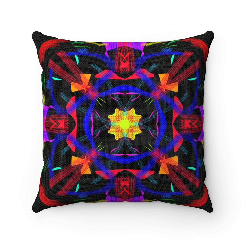 Spun Polyester Square Pillow - Total Blast | Designed by @remlor - Remlor Art