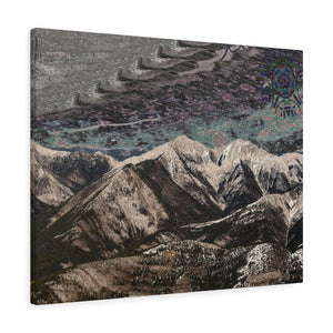 Canvas Gallery Wrap - the interloffing trollapers loffing along the mountains skied grey beings | Designed by @remlor - Remlor Art