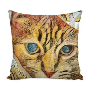 Abstract-Arphaxad The Cat - Pillow Cover - Remlor Art