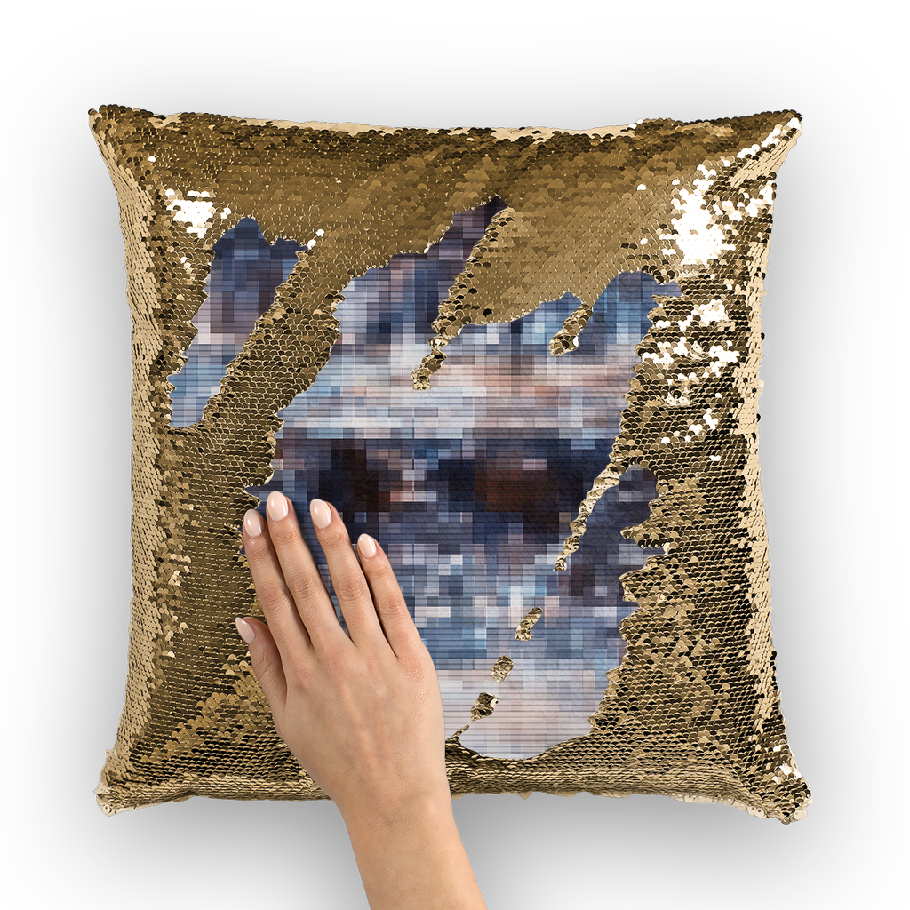 Two Currie flurry Sequin Cushion Cover - Remlor Art