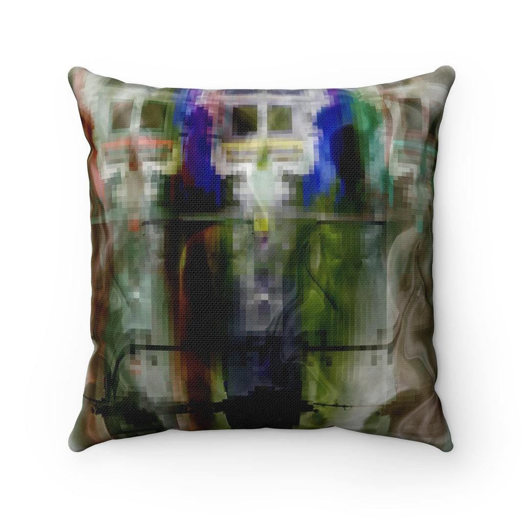 Spun Polyester Square Pillow - The Command Scene | Designed by @remlor - Remlor Art