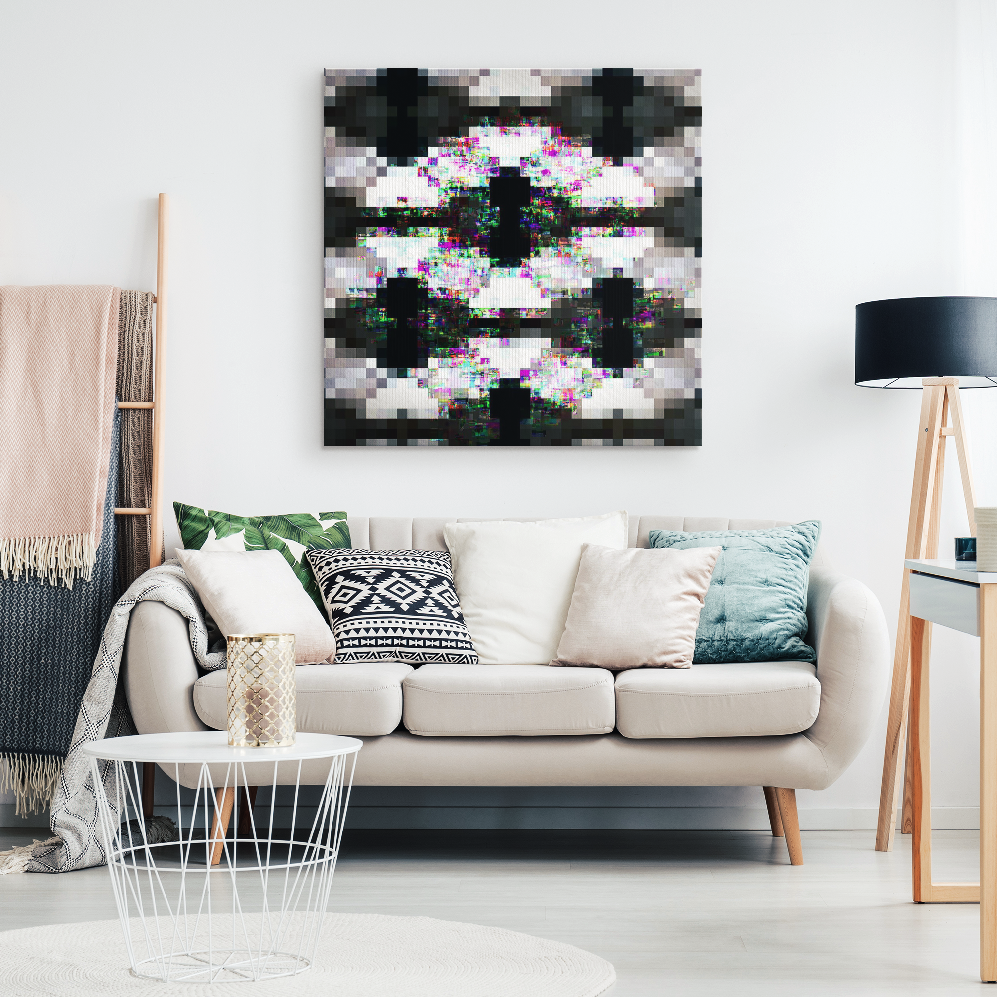 Into device - Canvas print - designed by @remlor - Remlor Art