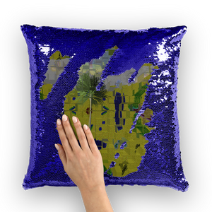 Sequin Cushion Cover - a matter of time | A Pillow Case - Designed by @remlor - Remlor Art