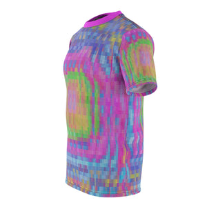 Unisex AOP Cut & Sew Tee - Brite vortex stabs u in eye | Designed by @remlor - Remlor Art