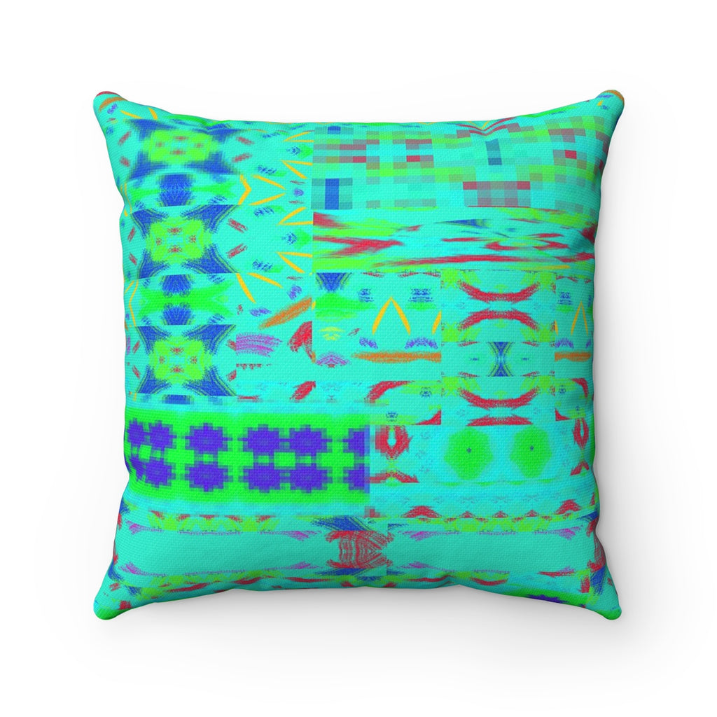 Spun Polyester Square Pillow - Intersecting Patts | Designed by @remlor - Remlor Art