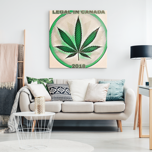 Legal in Canada 2018  - Canvas print - designed by @remlor - Remlor Art