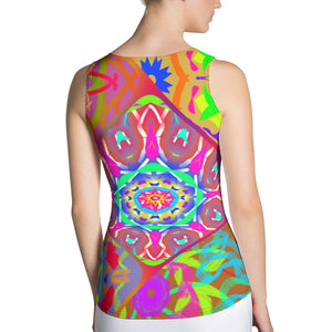 Women's Tank Top - Inter Connecting KaleidZ | A Pattern Designed by @remlor - Remlor Art