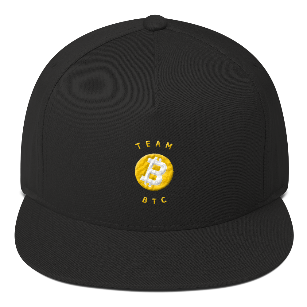 Team BTC - Flat Bill Cap - Designed by @remlor - Remlor Art