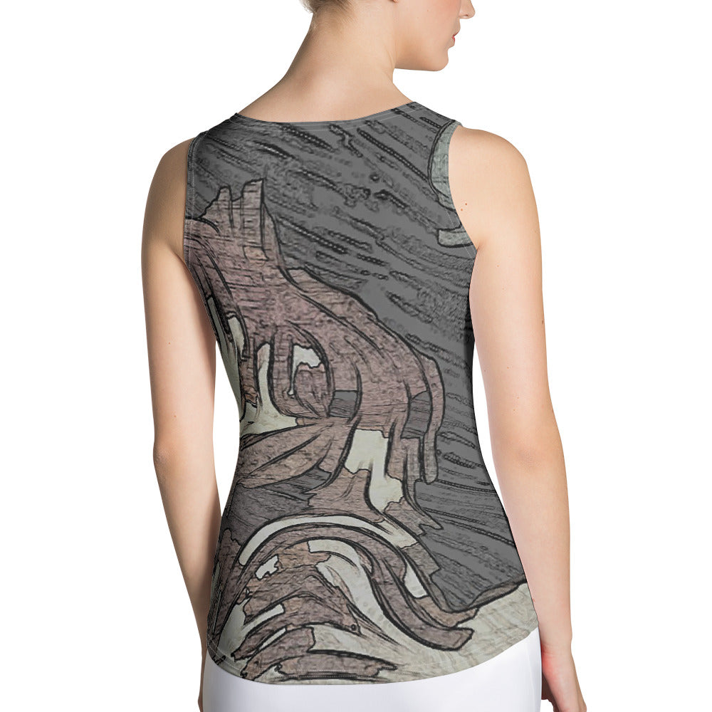 Sublimation Cut & Sew Tank Top - Privacy Related | Designed by @remlor - Remlor Art