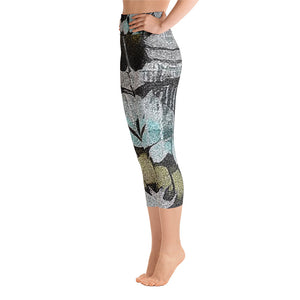 All-Over Print Yoga Capri Leggings - Remlor Art