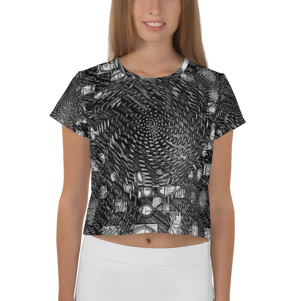 All-Over Print Crop Tee - Scathed | By @remlor - Remlor Art
