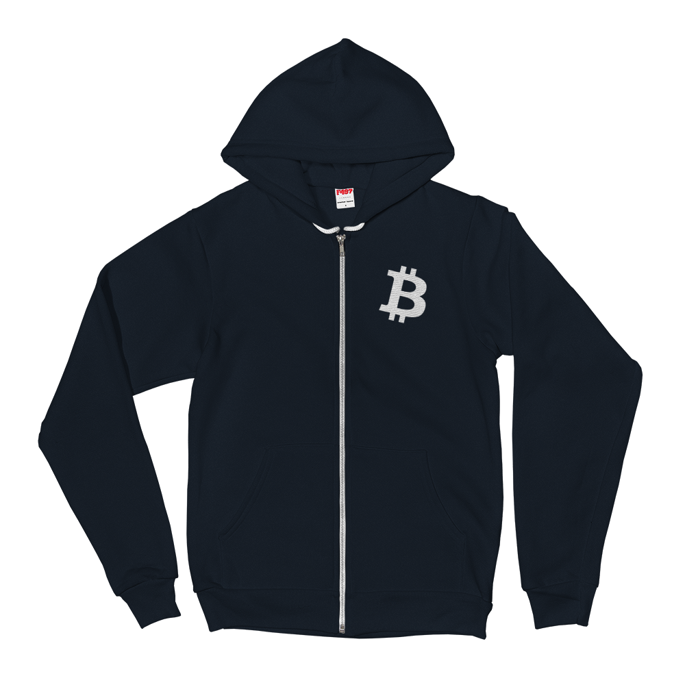 Hoodie sweater - Alternative Bitcoin Logo 2 | A Pattern Designed by @remlor - Remlor Art