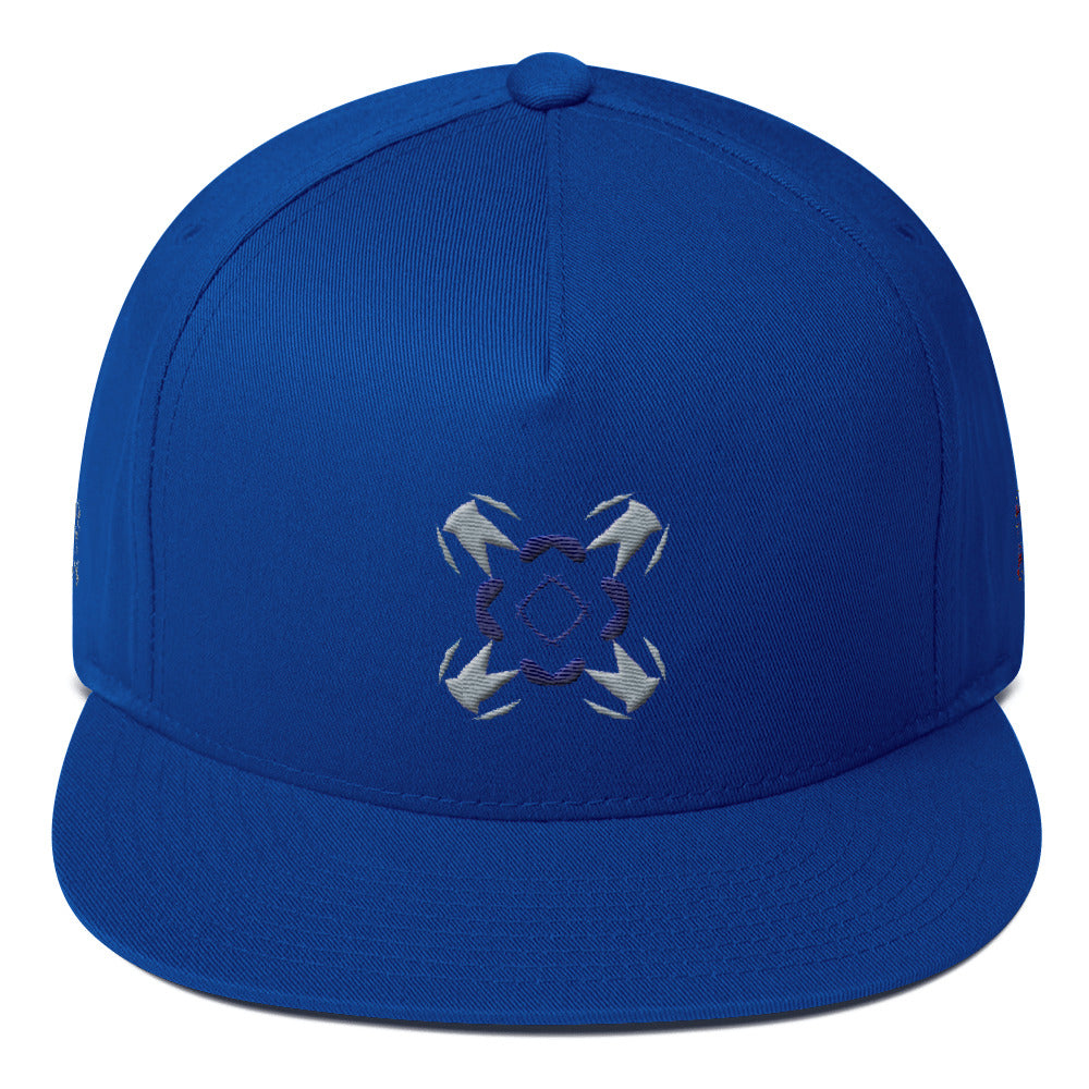 Cheque-ing-the-anglz - Flat Bill Cap -  designed by @remlor - Remlor Art