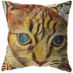 Abstract-Arphaxad The Cat - Broadcloth pillow - Remlor Art