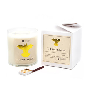 carlin brothers, candle, sherbet lemon, trinkets
