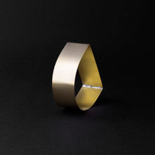 Load image into Gallery viewer, Detail of MOON bracelet in brass