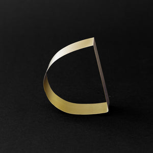 Detail of MOON bracelet in brass