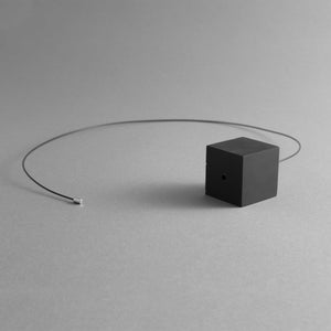 Detail of the Black Cube Necklace's magnetic chain