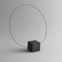 Load image into Gallery viewer, Detail of Black Cube Necklace