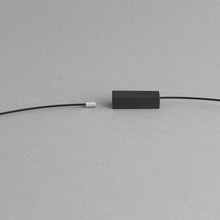 Load image into Gallery viewer, Detail of the Black Rectangle Necklace's magnetic chain
