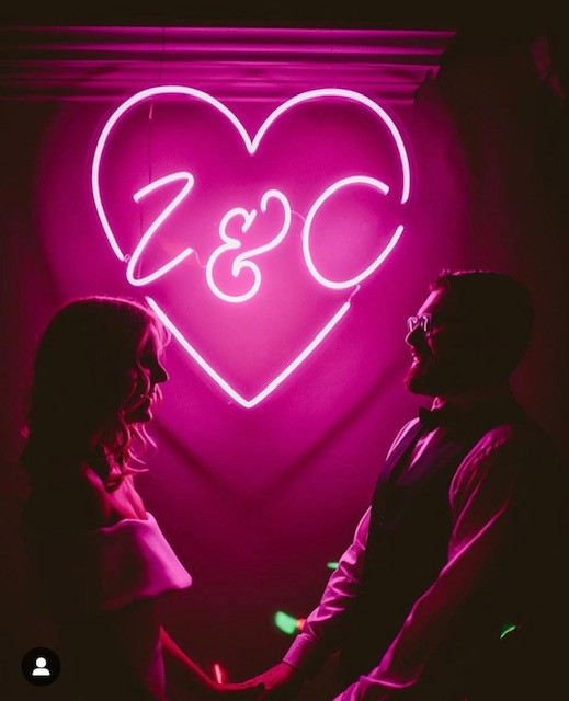 neonart wedding