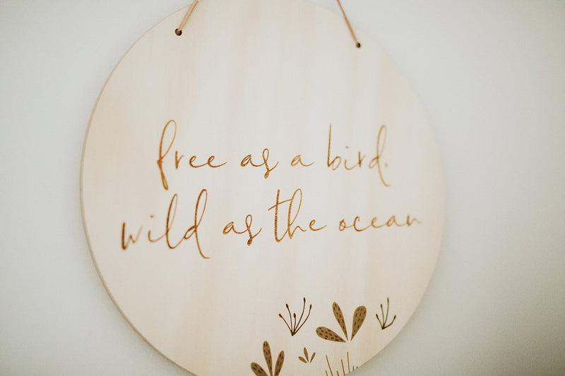 Free as a Bird, Wild as the Ocean Plaque