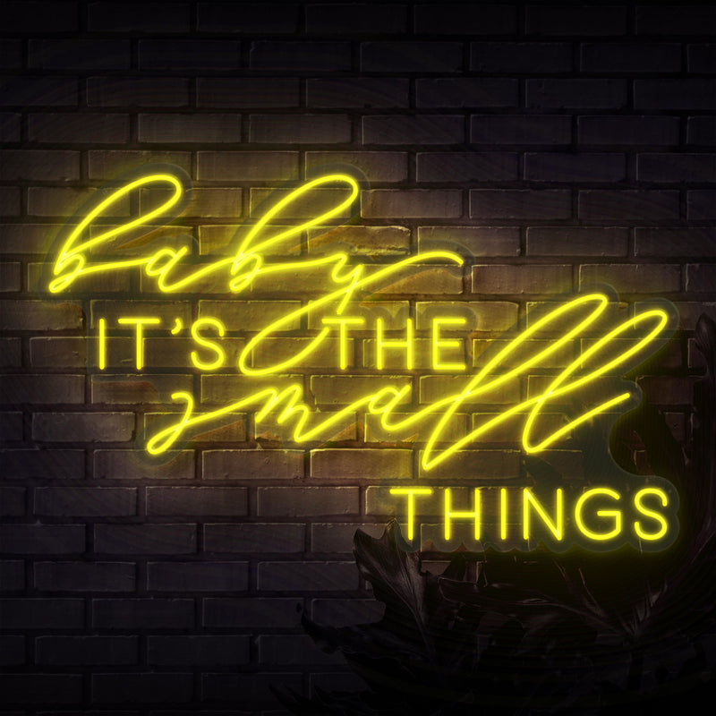 Baby It's The Small Things Neon Sign