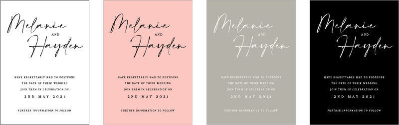 The Lily Postponement Card - Colour Options